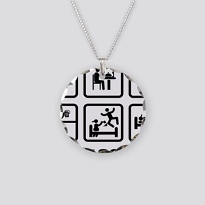 Rope-Climbing-ABA1 Necklace Circle Charm