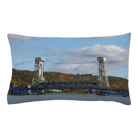Portage Lake Bridge Pillow Case
