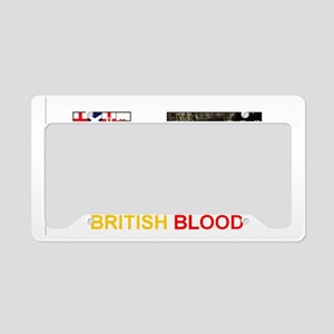 No More Loss of British Blood License Plate Holder