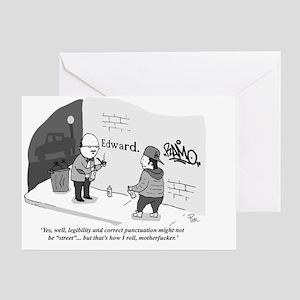 Graffiti large poster Greeting Card