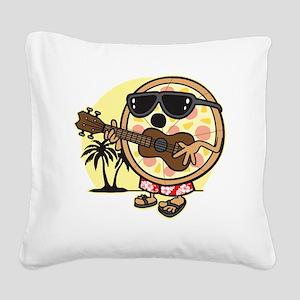 Hawaiian Pizza Square Canvas Pillow