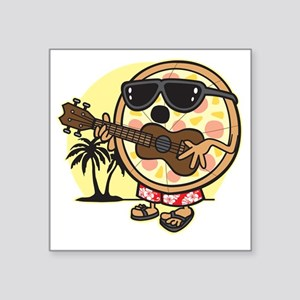 "Hawaiian Pizza Square Sticker 3"" x 3"""