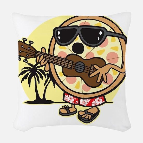 Hawaiian Pizza Woven Throw Pillow