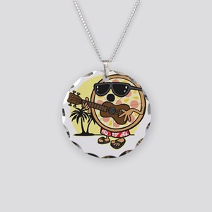 Hawaiian Pizza Necklace Circle Charm