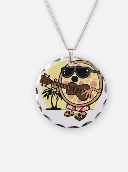 Hawaiian Pizza Necklace Circle Charm