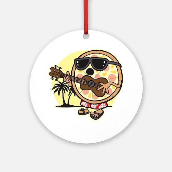 Hawaiian Pizza Round Ornament