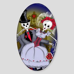 Muertos Bride and Groom Sticker (Oval)