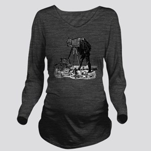 Vintage Photographer Long Sleeve Maternity T-Shirt