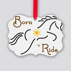 Born to Ride Picture Ornament