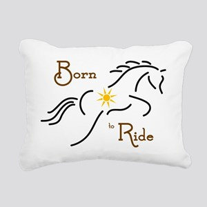 Born to Ride Rectangular Canvas Pillow