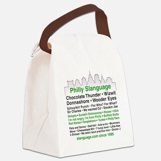 Philly Slanguage TShirt Canvas Lunch Bag