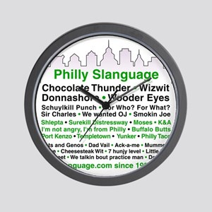 Philly Slanguage TShirt Wall Clock