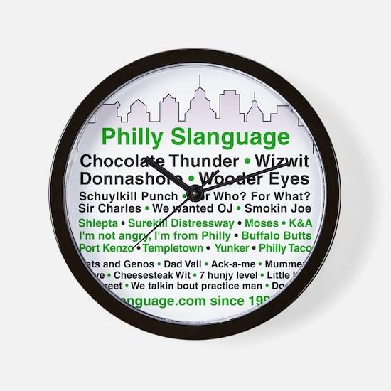 Philly Slanguage TShirt Wall Clock