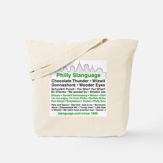 Philly Slanguage TShirt Tote Bag