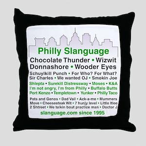 Philly Slanguage TShirt Throw Pillow