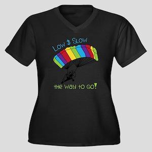 Powered Para Women's Plus Size Dark V-Neck T-Shirt