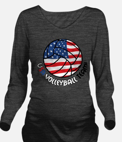 USA Volleyball Team Long Sleeve Maternity T-Shirt