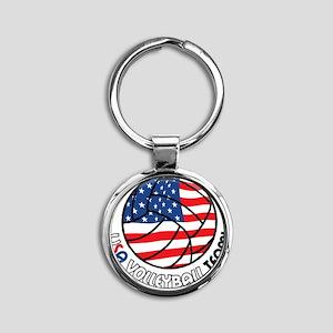 USA Volleyball Team Round Keychain
