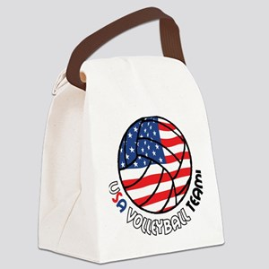USA Volleyball Team Canvas Lunch Bag