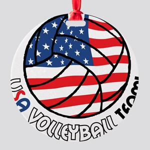 USA Volleyball Team Round Ornament