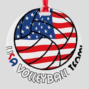 USA Volleyball Team Round Ornament
