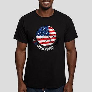 USA Volleyball Team Men's Fitted T-Shirt (dark)