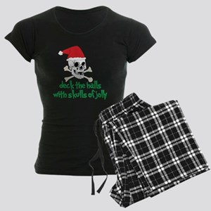Deck The Halls Women's Dark Pajamas