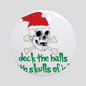 Deck The Halls Round Ornament
