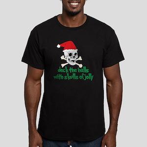 Deck The Halls Men's Fitted T-Shirt (dark)