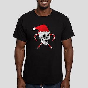 Santa Skull Men's Fitted T-Shirt (dark)