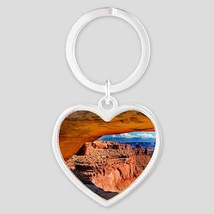 Mesa Arch Heart Keychain