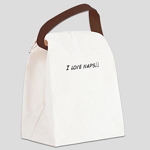 I_love_naps__ Canvas Lunch Bag