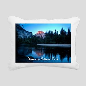 Half Dome sunset in Yose Rectangular Canvas Pillow