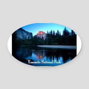 Half Dome sunset in Yosemite Natio Oval Car Magnet