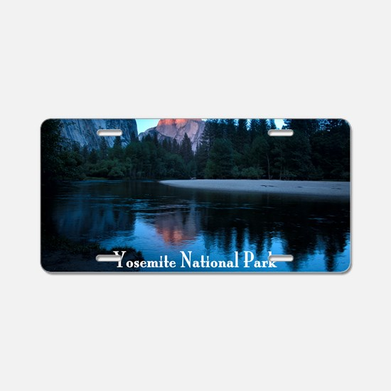 Half Dome sunset in Yosemit Aluminum License Plate