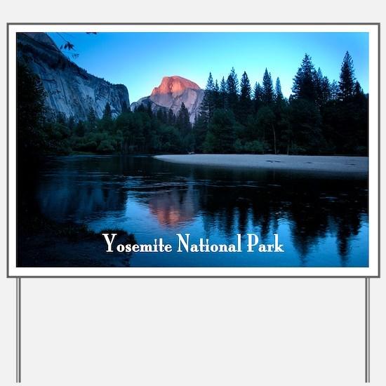 Half Dome sunset in Yosemite National Pa Yard Sign