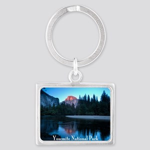 Half Dome sunset in Yosemite Na Landscape Keychain