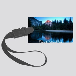 Half Dome sunset in Yosemite Nat Large Luggage Tag