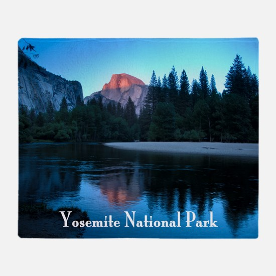 Half Dome sunset in Yosemite Nationa Throw Blanket