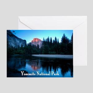 Half Dome sunset in Yosemite Nationa Greeting Card