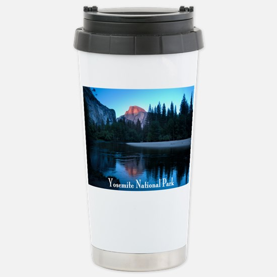 Half Dome sunset in Yos Stainless Steel Travel Mug