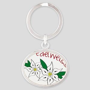 Edelweiss Oval Keychain