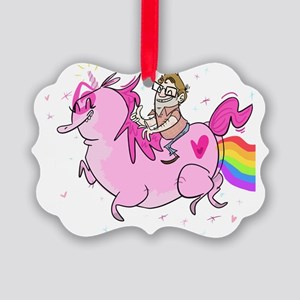 Keith on Unicorn Picture Ornament