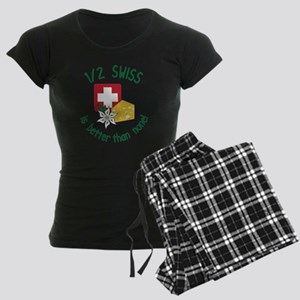 1/2 Swiss Women's Dark Pajamas
