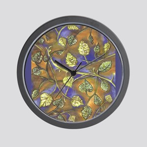 Berry Leaves With No Raspberries with G Wall Clock