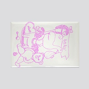 Nursery Toys In Room Light Orchid Rectangle Magnet
