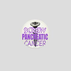 Screw Pancreatic Cancer Mini Button