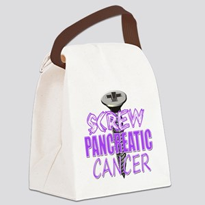 Screw Pancreatic Cancer Canvas Lunch Bag