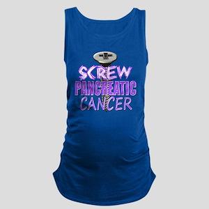 Screw Pancreatic Cancer Maternity Tank Top