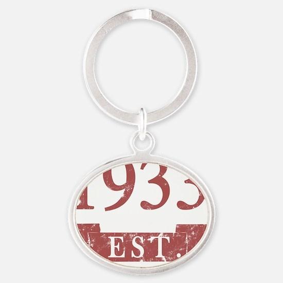 Est. 1933 Oval Keychain